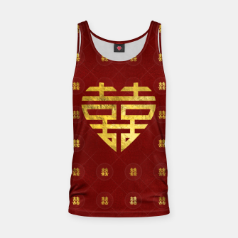 Thumbnail image of Gold Double Happiness Symbol in heart shape Tank Top, Live Heroes