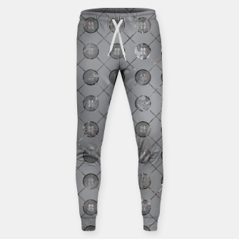 Thumbnail image of Silver Double Happiness Symbol pattern Cotton sweatpants, Live Heroes