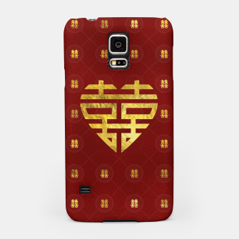 Thumbnail image of Gold Double Happiness Symbol in heart shape Samsung Case, Live Heroes