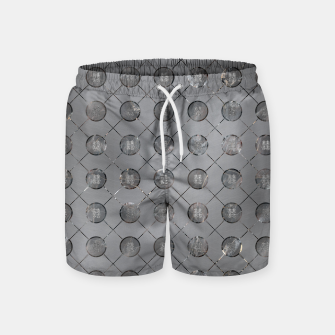 Thumbnail image of Silver Double Happiness Symbol pattern Swim Shorts, Live Heroes