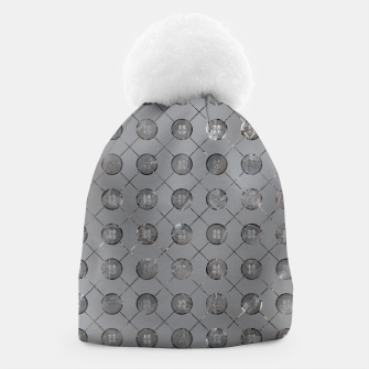 Thumbnail image of Silver Double Happiness Symbol pattern Beanie, Live Heroes