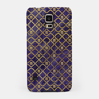 Thumbnail image of Gold Chinese Double Happiness Symbol pattern on amethyst Samsung Case, Live Heroes
