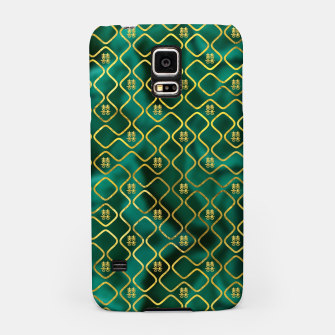 Thumbnail image of Gold Chinese Double Happiness Symbol pattern on malachite Samsung Case, Live Heroes