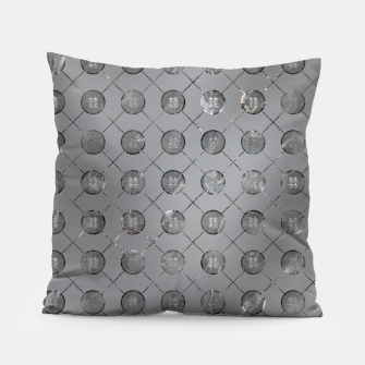 Thumbnail image of Silver Double Happiness Symbol pattern Pillow, Live Heroes