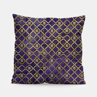 Thumbnail image of Gold Chinese Double Happiness Symbol pattern on amethyst Pillow, Live Heroes