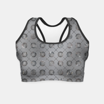 Thumbnail image of Silver Double Happiness Symbol pattern Crop Top, Live Heroes