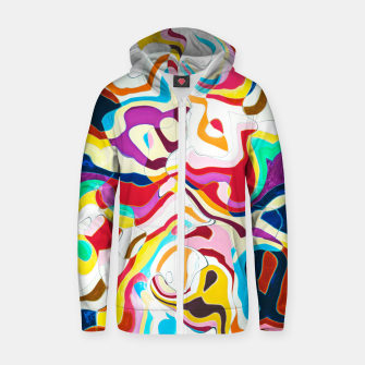Thumbnail image of Bipolar Cotton zip up hoodie, Live Heroes