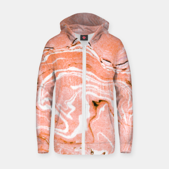 Thumbnail image of Coral Blush Marble Cotton zip up hoodie, Live Heroes