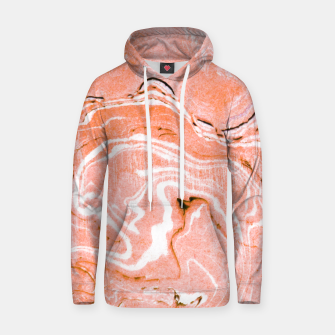 Thumbnail image of Coral Blush Marble Cotton hoodie, Live Heroes
