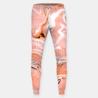 Thumbnail image of Coral Blush Marble Cotton sweatpants, Live Heroes