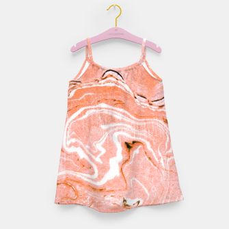Thumbnail image of Coral Blush Marble Girl's dress, Live Heroes