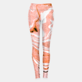 Thumbnail image of Coral Blush Marble Leggings, Live Heroes