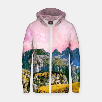 Thumbnail image of Small World Cotton zip up hoodie, Live Heroes