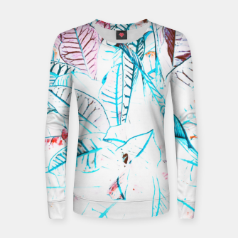 Thumbnail image of Botanical Detail Woman cotton sweater, Live Heroes