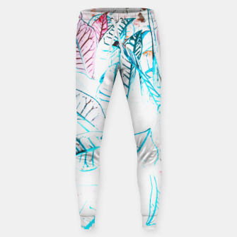 Thumbnail image of Botanical Detail Cotton sweatpants, Live Heroes