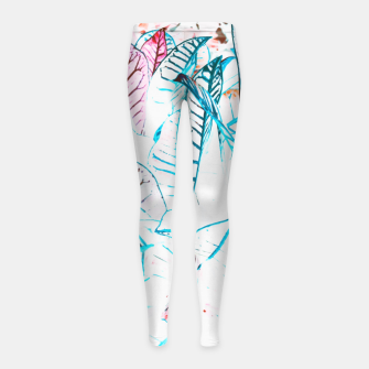 Thumbnail image of Botanical Detail Girl's leggings, Live Heroes