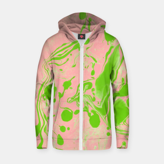 Thumbnail image of Blush + Greenery Cotton zip up hoodie, Live Heroes
