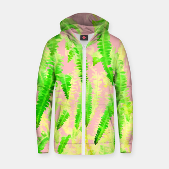 Thumbnail image of Blush Green Glow Cotton zip up hoodie, Live Heroes
