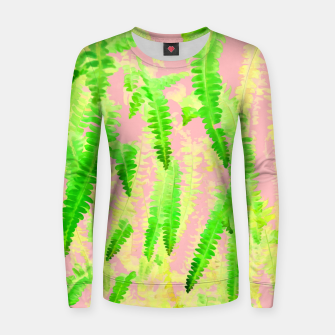 Thumbnail image of Blush Green Glow Woman cotton sweater, Live Heroes