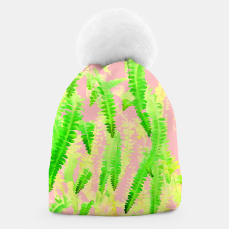 Thumbnail image of Blush Green Glow Beanie, Live Heroes