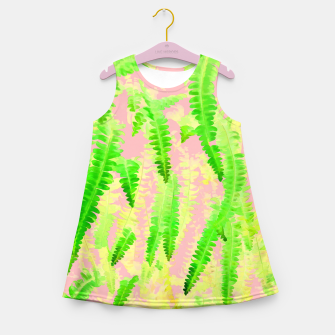 Thumbnail image of Blush Green Glow Girl's summer dress, Live Heroes