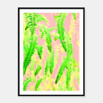 Thumbnail image of Blush Green Glow Framed poster, Live Heroes