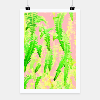 Thumbnail image of Blush Green Glow Poster, Live Heroes