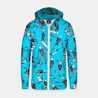 Grim Ripper BLUE Cotton zip up hoodie thumbnail image