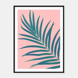 Thumbnail image of Tropical Palm Leaf #3 #botanical #decor #art Plakat mit rahmen, Live Heroes