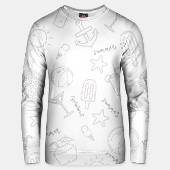 Miniatur Summer icons Pattern Cotton sweater, Live Heroes