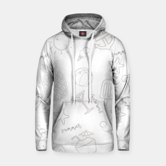 Miniatur Summer icons Pattern Cotton hoodie, Live Heroes