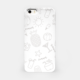 Miniatur Summer icons Pattern iPhone Case, Live Heroes