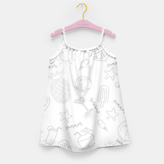 Miniatur Summer icons Pattern Girl's dress, Live Heroes