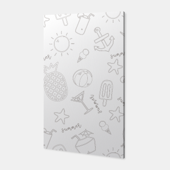 Miniatur Summer icons Pattern Canvas, Live Heroes