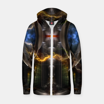 Thumbnail image of Nuclear Fusion Reactor Cotton zip up hoodie, Live Heroes