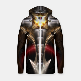 Thumbnail image of Dagger Fusion Core Cotton zip up hoodie, Live Heroes