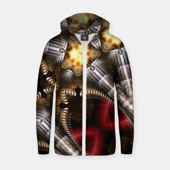 Thumbnail image of Tri Fusion GenCore Cotton zip up hoodie, Live Heroes