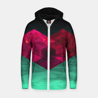 Thumbnail image of Heart of the deep ocean by #Bizzartino Cotton zip up hoodie, Live Heroes