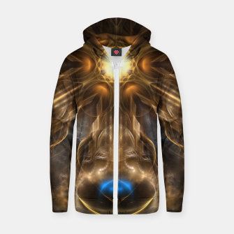 Thumbnail image of Orb Star Cotton zip up hoodie, Live Heroes