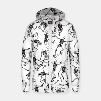 Thumbnail image of Grim Ripper WHITE Cotton zip up hoodie, Live Heroes