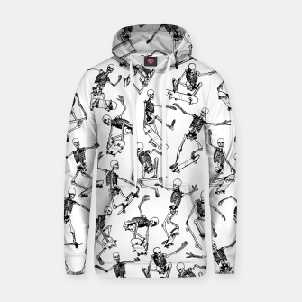 Thumbnail image of Grim Ripper WHITE Cotton hoodie, Live Heroes