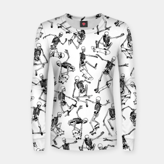 Thumbnail image of Grim Ripper WHITE Woman cotton sweater, Live Heroes