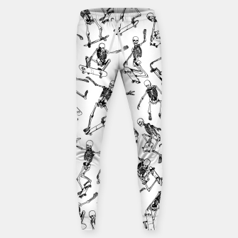 Thumbnail image of Grim Ripper WHITE Cotton sweatpants, Live Heroes