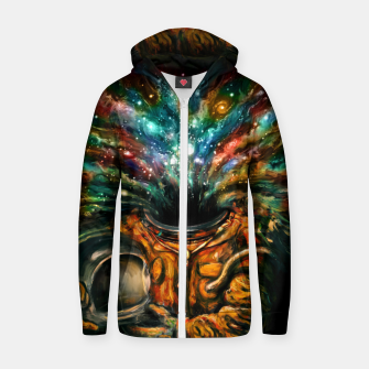 Thumbnail image of Inhale Cotton zip up hoodie, Live Heroes