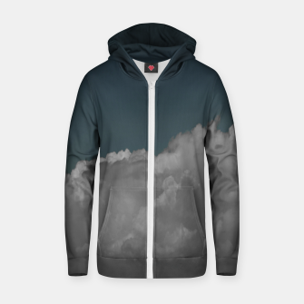 Thumbnail image of Cloudy blue Cotton zip up hoodie, Live Heroes