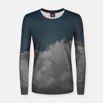 Thumbnail image of Cloudy blue Woman cotton sweater, Live Heroes