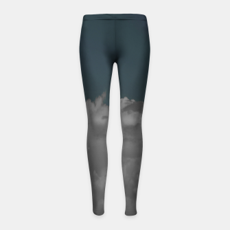 Thumbnail image of Cloudy blue Girl's leggings, Live Heroes