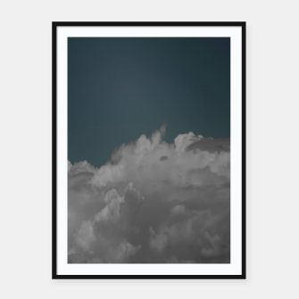 Thumbnail image of Cloudy blue Framed poster, Live Heroes