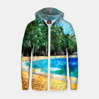 Thumbnail image of Magical Island Cotton zip up hoodie, Live Heroes