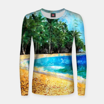 Thumbnail image of Magical Island Woman cotton sweater, Live Heroes